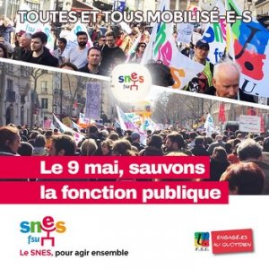 Grève et manifestations du 9 mai, manif nationale à Paris le 18 : affiches, (...)